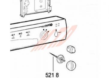 Axe du bouton programme REP 521 8